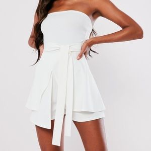 Missguided Strapless Romper